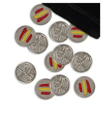 Regalos originales. Juego de amarracos para la Guardia Civil. Emblema y bandera de España a colores.