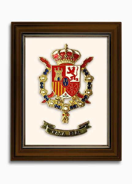 Cuadros escudo Constitucional personalizado con pieza metálica fundida a todo color