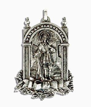Medallas religiosas en volumen 3D en plata envejecida