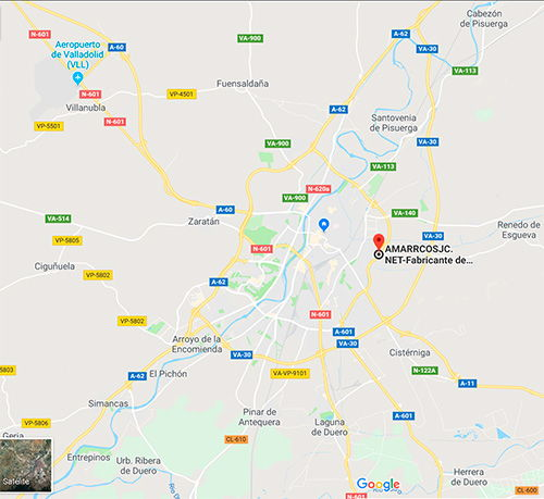 Ubicación de la fábrica de amarracos en Valladolid amarracos.net